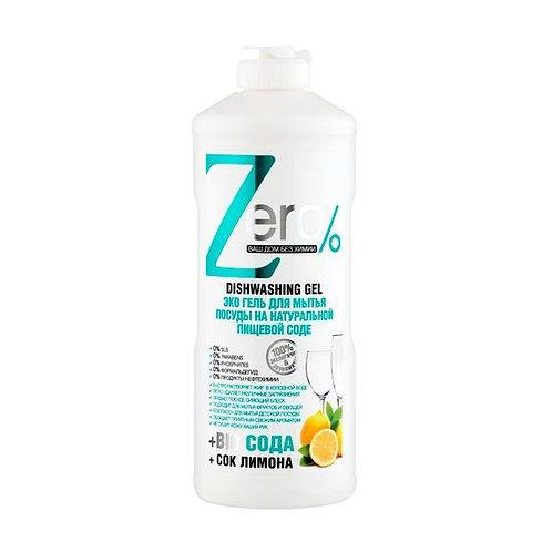 Zero - Ecological Dishwashing Gel - Natural Soda and Lemon Juice 500ml