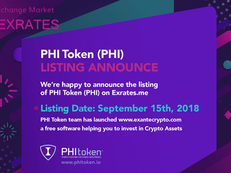 PHI Token new listing on EXRATES