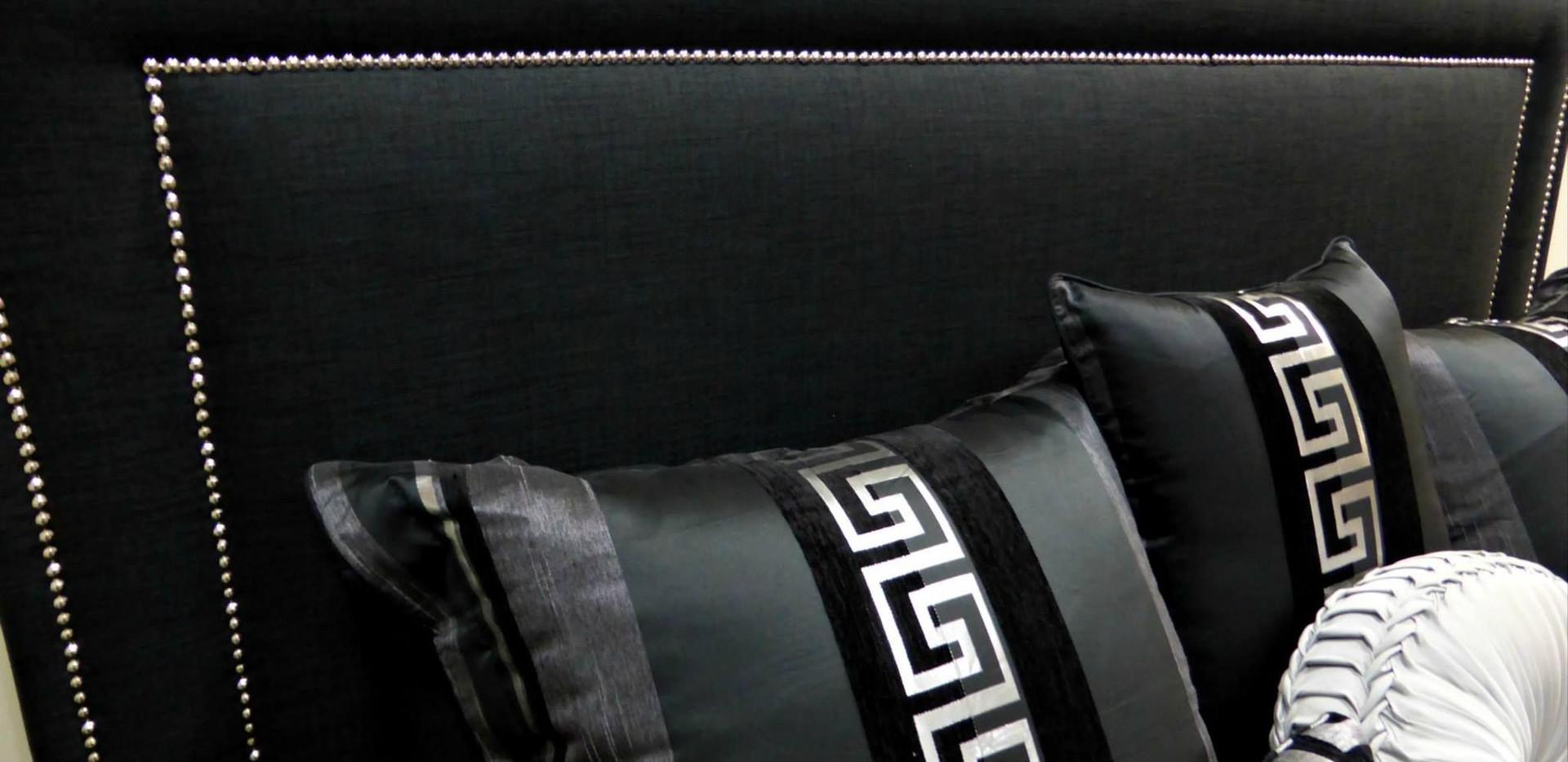 Plush Upholstered Bedhead