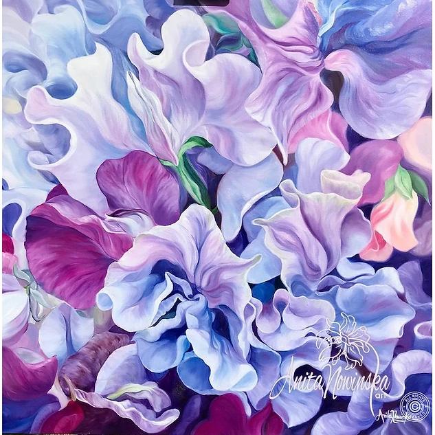 Feminality-flower_painting-sweet_peas-pu