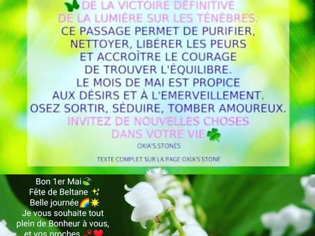 Bon 1 er Mai, Belle fête de Beltane 🍃🌼, le retour de la lumière ☀
