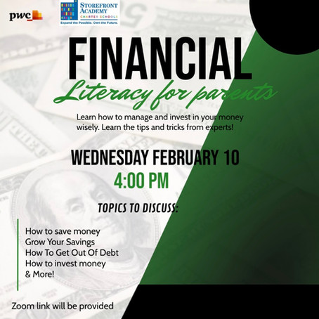Financial Literacy for Parents!