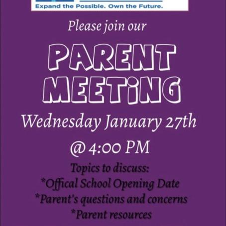 Parent Meeting!