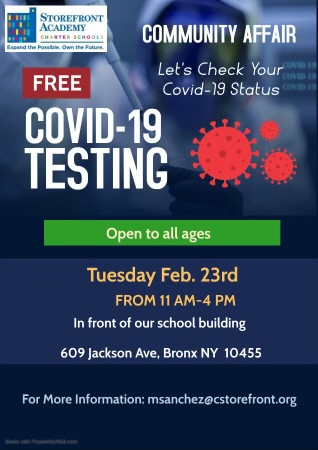 Free Covid-19 Testing available!