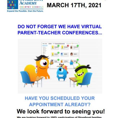 Parent Teacher Virtual Conferences