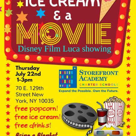 Ice Cream & A Movie