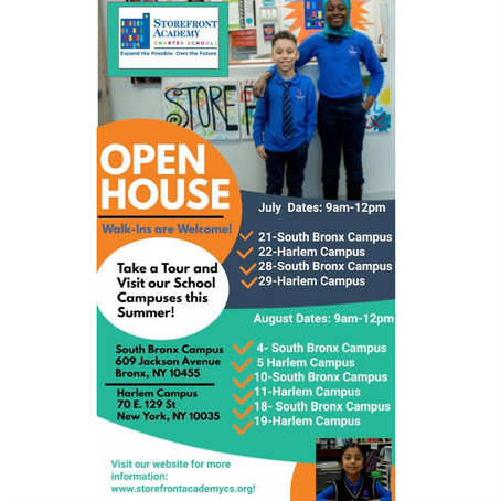 Open House Dates!