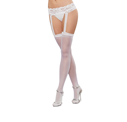Dreamgirl - Sheer Garter Belt Pantyhose