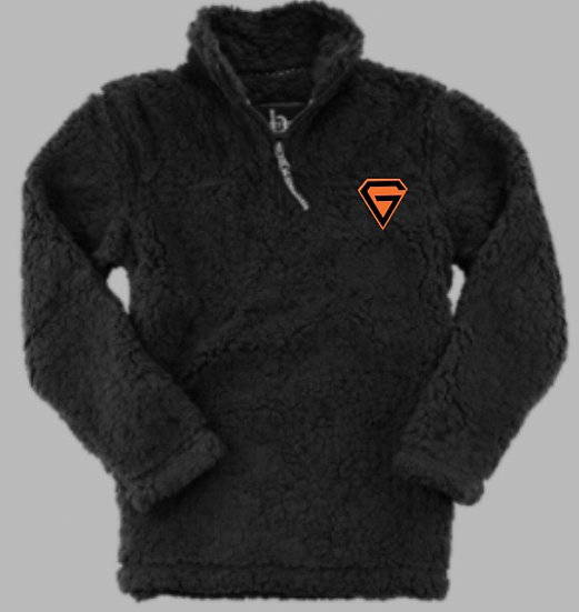 Embroidered Gridders Sherpa Sweater
