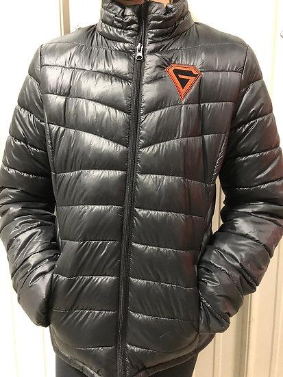 Black Puffer Gridder Jacket