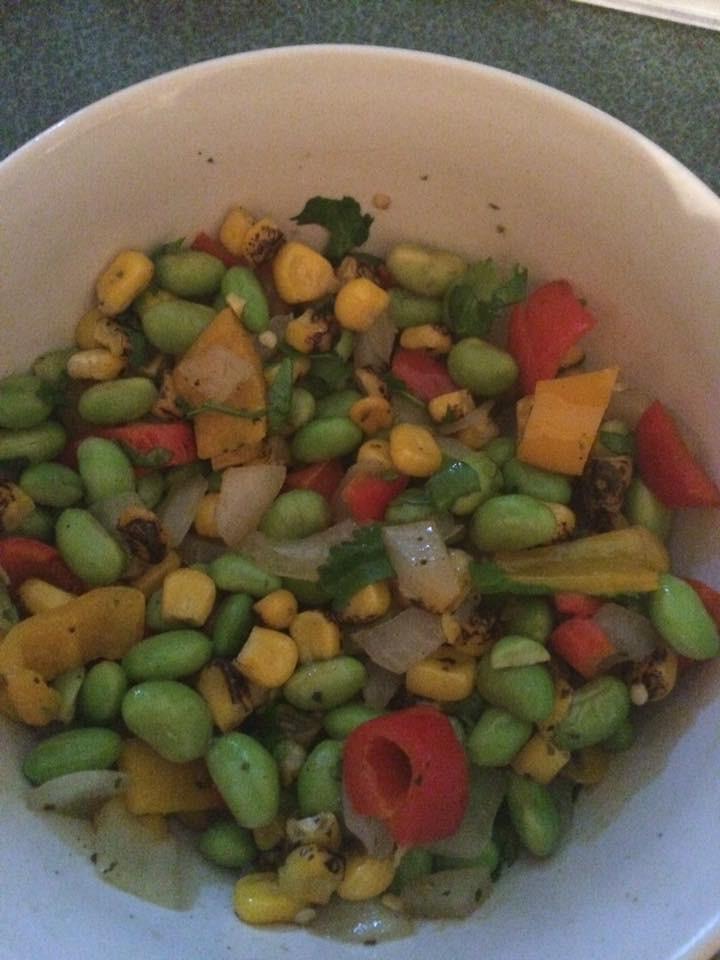 Edamame and Corn Succotash