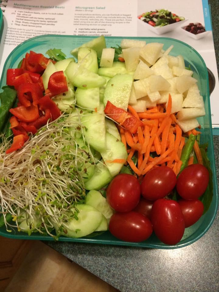 Microgreen Salad I prepared for travel