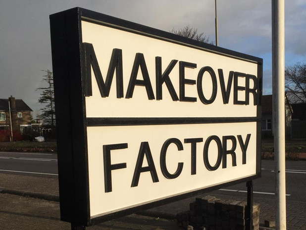 Signing for Makeover Factory