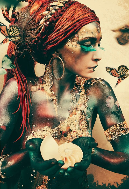 Woman with Butterflies l