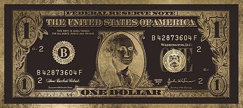 One Dollar Gold Dark Brown