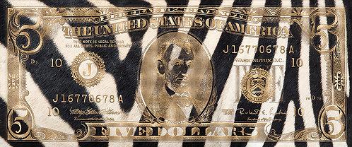 5 Dollar Zebra Gold