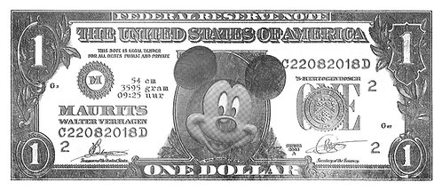 Personalised Mouse Dollar Silver