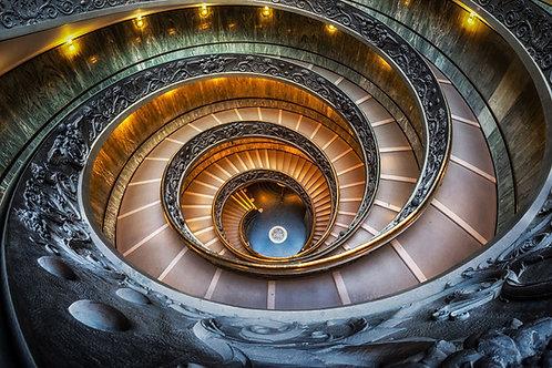 The modern 'Bramante' spiral stairs