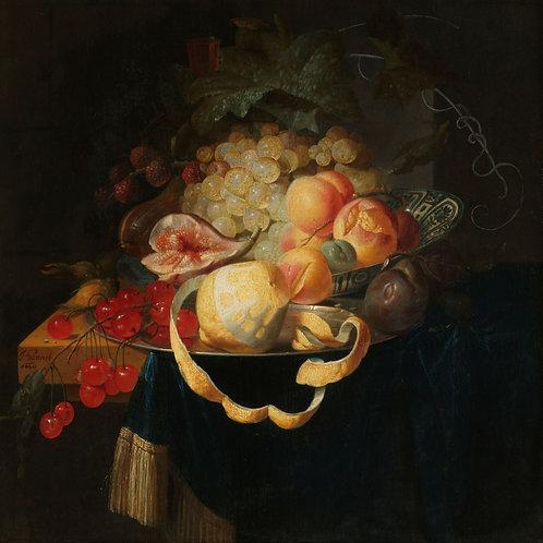 Still Life with Fruit, Johannes Hannot, 1668