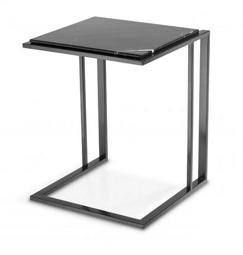 Eichholtz Bijzettafel - Zwart Marmeren blad - Zwart afgewerkt frame