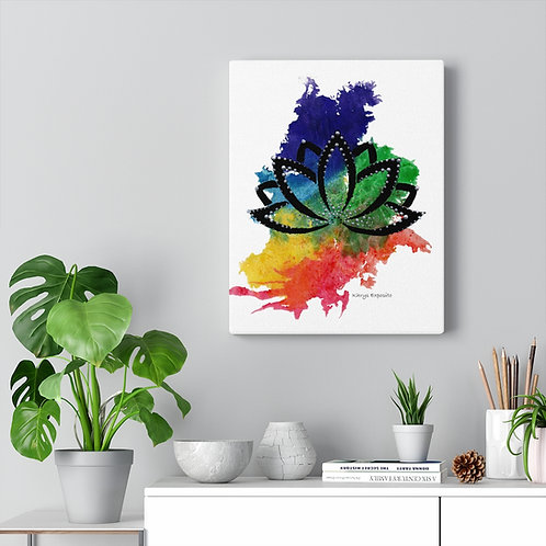 """""""When the Chakras Flow, the Lotus Grows"""" canvas print"""