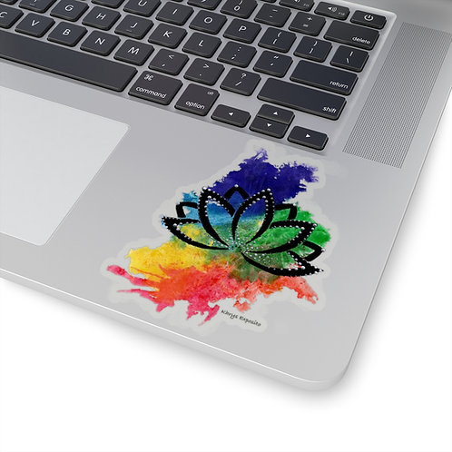 """""""When the Chakras Flow, the Lotus Grows"""" Die Cut Sticker"""