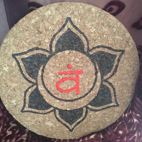 Sacral Chakra Cork Board Trivet