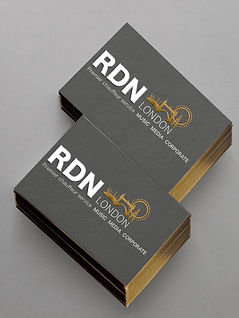 Logo design, business card design, premium quality printing, gold foil embossing