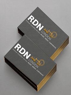 Logo design, business card design, premium quality printing, gold foil embossing