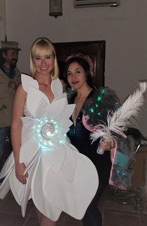 The Spiral Dream Gown and Desginer Loritza Castillo