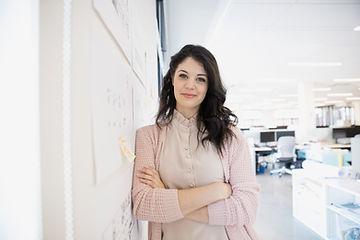 professional woman feeling powerful