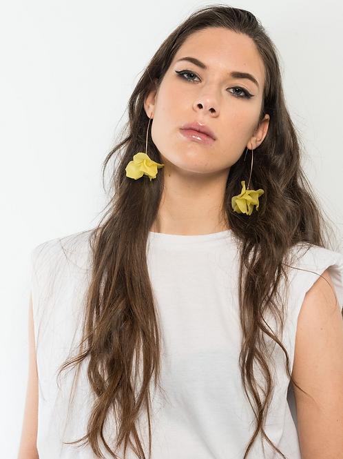 Yellow flower earrings (Leaverbacks)
