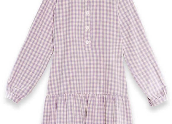 Short babydoll gingham dress
