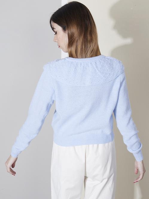 Cape collar sweater