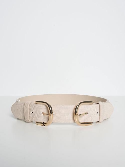 Doble buckle belt
