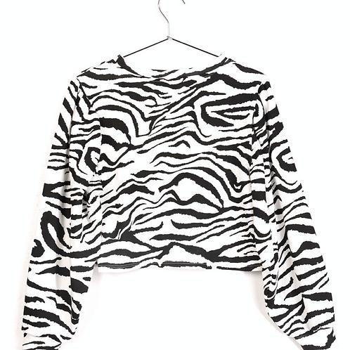 Zebra cropped sweatshirt