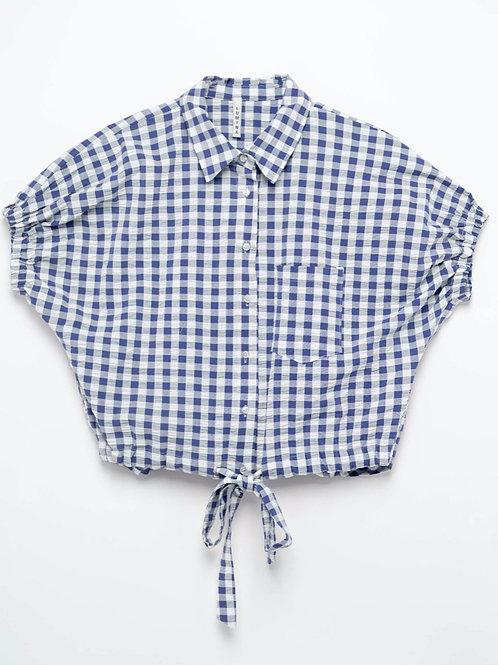Gingham print blouse