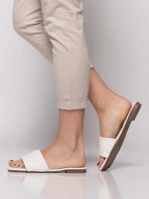 Padded strip sandals