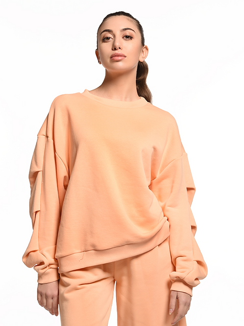 Detailed sleeve sweatshirt