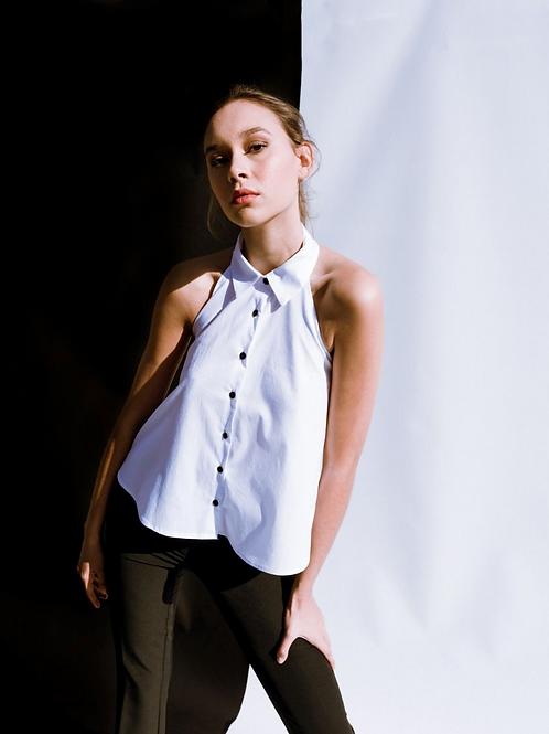 White halter blouse