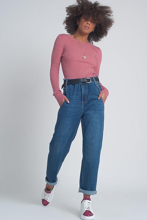 Slouchy denim trousers