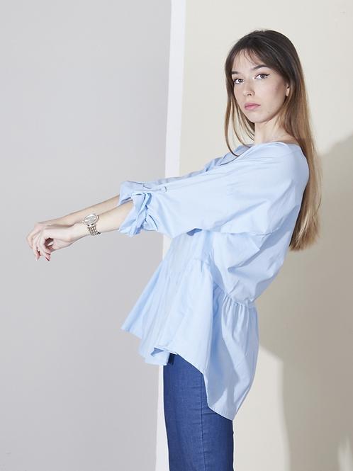 Asymmetrical babydoll blouse