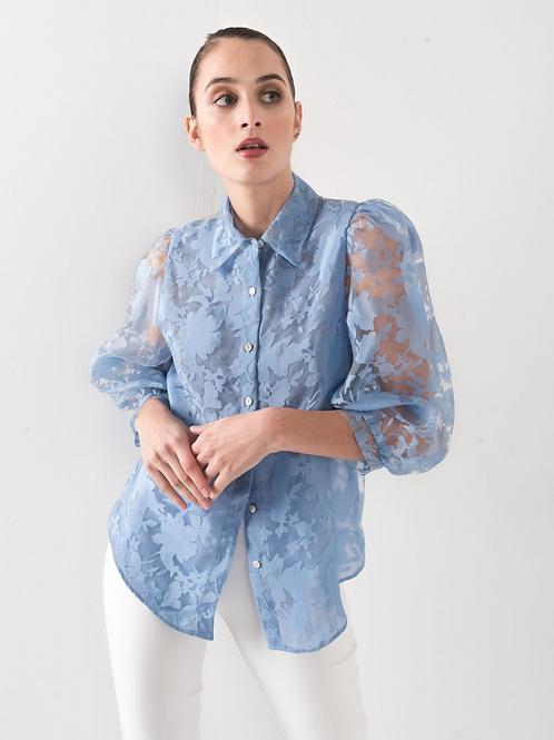 Organza flower blouse