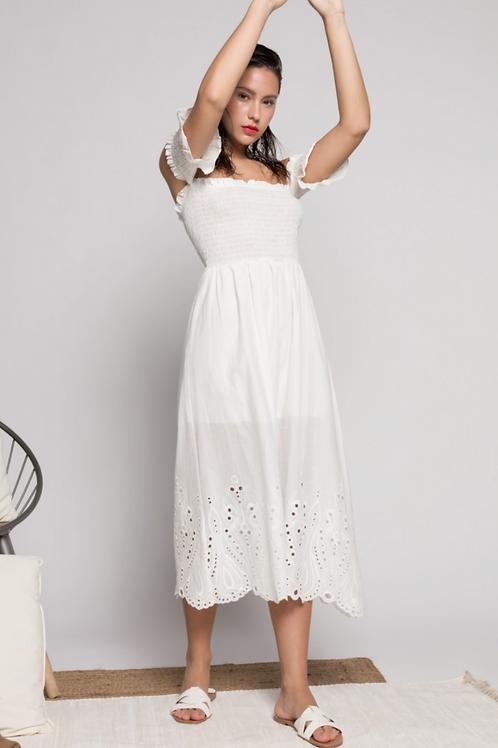 Plumetti strapless dress