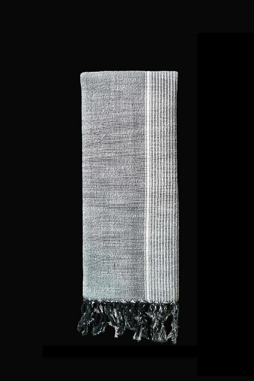 Coal handwoven towel