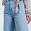 Thumbnail: Straight cut hight waist culotte denim trouser