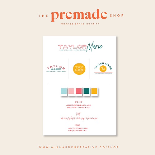 The Taylor Marie – Premade Brand Identity Kit