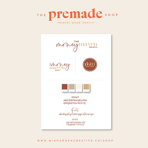 The Money Maven – Premade Brand Identity Kit