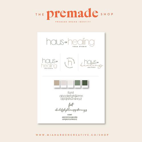 Haus of Healing – Premade Brand Identity Kit
