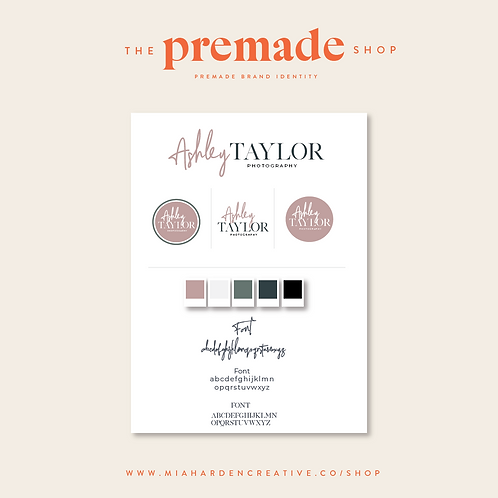 Ashley Taylor Photography – Premade Brand Identity Kit